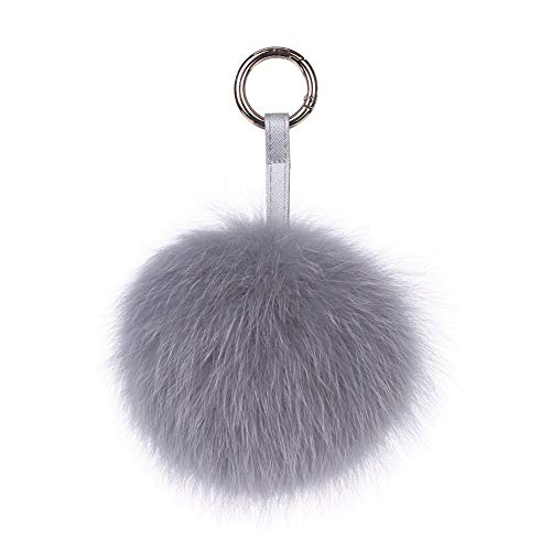 Tclothing Genuine Fur Ball Keyring Fox Bag Charm Fur Pom Fur Pendant for Handbags Rearview Mirror in Car 11 Womens Pom Pom