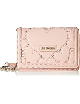 Love Moschino Damen Leder Falten über Clutch-Tasche Rosa