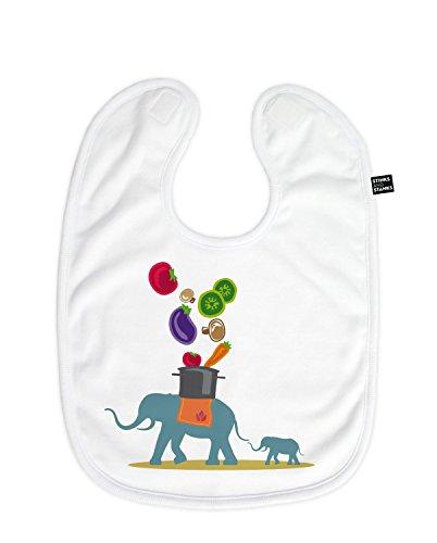 Bavoir klecke Bavoir éléphant porte Faitout BL021