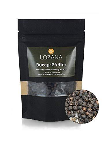 Schwarzer Bucay-Pfeffer ( 70 g ) Gourmet-Pfeffer ganze Pfefferkörner für Mörser und Mühle