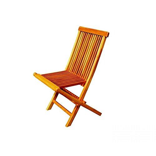Mon Usine Discount Lot de 4 chaises pliantes de jardin en teck massif huilé