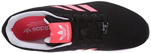 adidas Zx Flux, Baskets Basses femme Schwarz (Core Black/Flash Red S15/Ftwr White)