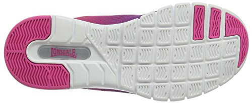 Lonsdale Damen Remi Laufschuhe, Schwarz Purple (Purple/Pink)