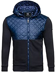 BOLF Herren Sweatjacke Übergangsjacke Sweatshirt Jacke MIX