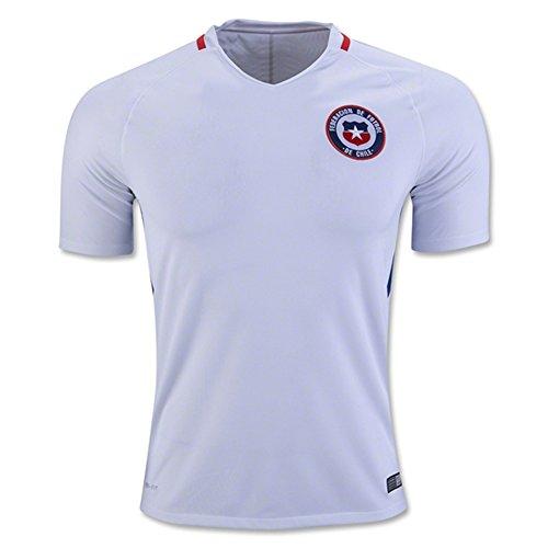 2018FIFA World Cup Chile DIY Nombre y números Away–Camiseta de fútbol Nacional en blanco, hombre, blanco, extra-large