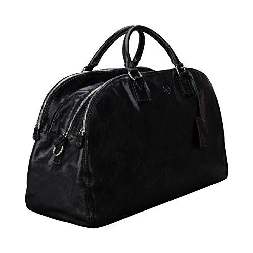 Maxwell Scott® Borsa donna in pelle italiana di lusso personalizzato (la lilianal), Dark Chocolate Brown (Marrone) - LilianaL_907_4 Night Black
