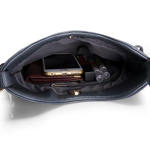 BMC Damen Kunstleder Troddel Akzent Dünn Mode Handtasche Clutch Hellorange