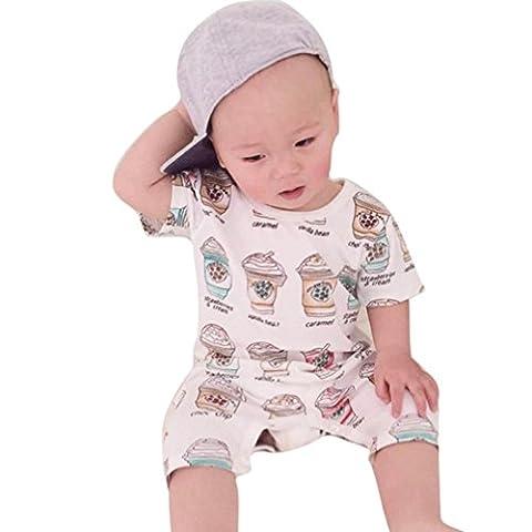 Kleinkind Jumpsuit Xinan Kurze Ärmel Print Strampler Overall Bodysuit Kleidung