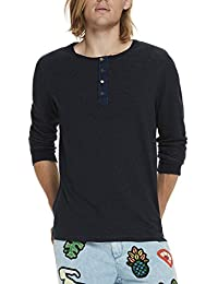 Scotch & Soda Longsleeve Grandad In Lightweight Felpa Quality, Hauts à Manches Longues Homme