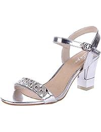 damenschuhe silber sandaletten