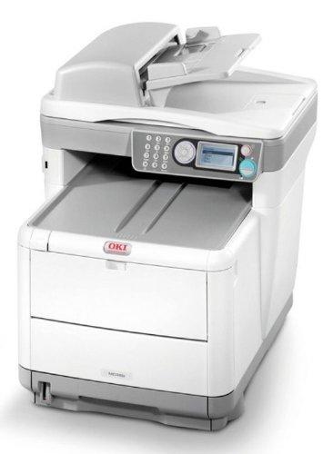 OKI MC360 MFP color scan copi fax LED printer 20ppm sw 16ppm Farbe 266Mhz USB2.0 10/100BaseTX 128MB, -