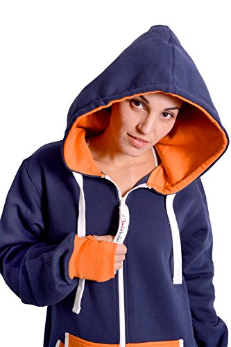 Charlie McLeod The Classic Unisex Onesie in Inky Blue and Orange - S - 3