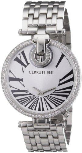 Cerruti CRM027A211A - Reloj analógico de mujer de cuarzo con correa de acero inoxidable plateada