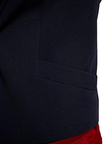 oodji Ultra Donna Blazer Corto Aderente Blu (7900N)