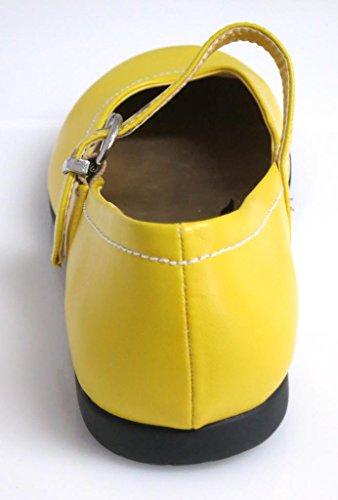 Dolce vita 42 à chaussures jaune rose 2835 ballerines femme Jaune - Jaune