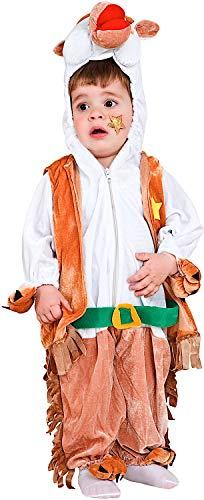 1 Cowboy Kostüm Alten Jahr - Carnevale Venizano CAV60807-2 - Plüschkostüm Cavallo DEL West - Alter: 1-4 Jahre - Größe: 2