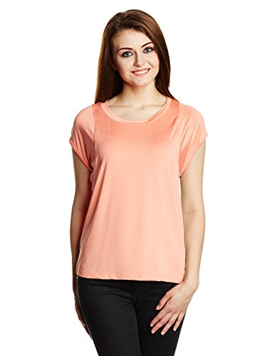 Chemistry Women's Plain T-Shirt (C14-246WTTOP_Grapefruit_Small)