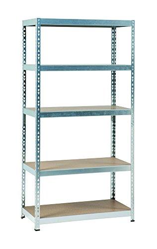 practo-m843-scaffalatura-in-metallo-zincato-legno-dimensioni-180-x-91-x-45-cm-senza-bulloni-180-kg