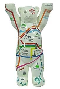 """'Original Buddy de Berlin Ours Bear peinte à la main Figurine """"Filet de Berlin, hauteur: env. 22cm,, Souvenir Cadeau souvenir"""