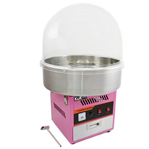 KuKoo Macchina per Zucchero Filato con Cupola Protettiva