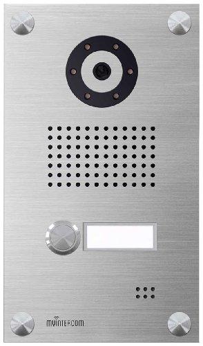 myintercom One, IP-Video doorbell panel, myi0002 - Frontblende Aluminium im Edelstahldesign eloxiert , no home charger im Lieferumfang