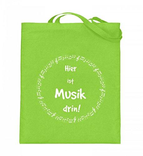 Hochwertiger Jutebeutel (mit langen Henkeln) - Musiker Noten-Tasche perfekt als Geschenk für jeden Musiker in Orchester und Chor (Perfekter Druck-tasche)