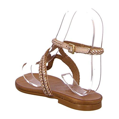 Inuovo 6196 - Damen Sandalette Pantolette Zehentrenner Cognac