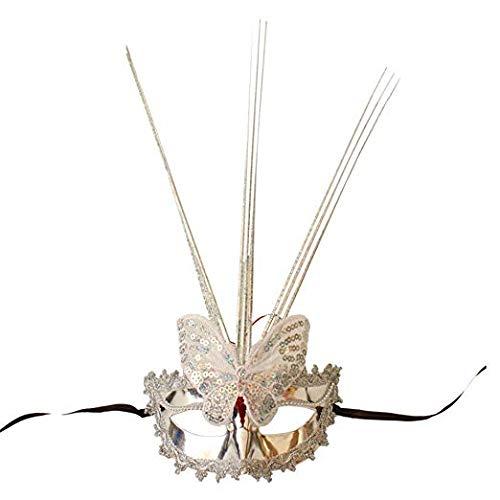 Gesichtsmaske Schild Schleier Wache Bildschirm Domino falsche Vorderseite Halloween Maske jährliche Make-up Tanzmaske Silber,1 -