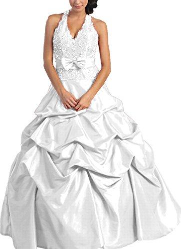 NL584 Sissi-Ballkleid Barockkleid Festkleid Abendkleid lang, Weiß, Gr. 34