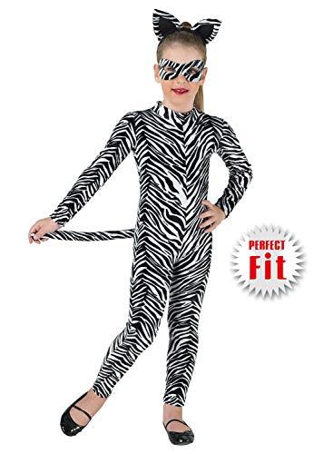 Clown Republic- Zebra Kostüm, Mädchen, 85410/10, mehrfarbig (Für Mädchen Zebra-kostüme)