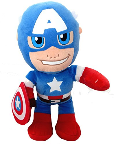 33cm Captain America Licensed Plush Toy - The Avengers - Jouets de personnage de film ...