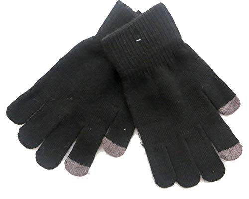Mens Touch Screen Gloves for iPhone, iPad, Blackberry, Samsung, HTC and other smartphones, PDA's & Sat navs, Black Touchscreen-blackberry