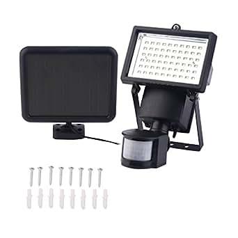 60 SMD LED Faretto Solare Solar lampada faretto Lampada da esterno lampada da parete con PIR sensore di movimento