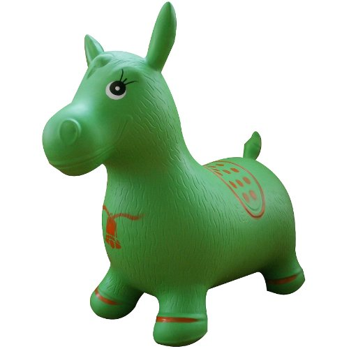 green-horse-hopper-pump-included-inflatable-space-hopper-jumping-horse-ride-on-bouncy-animal