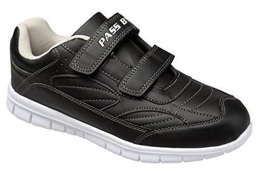 GIBRA® Sportschuhe mit weißer Sohle und Klettverschluss, schwarz, Gr. 36-41 Schwarz