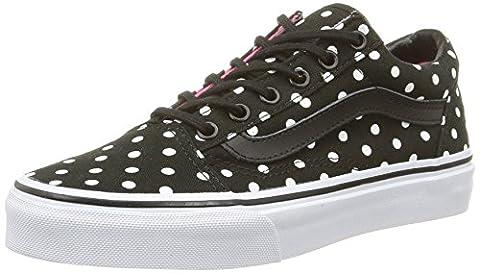 Vans Old Skool, Sneakers Basses mixte enfant, Noir (Polka Dots/Black), 33 EU (UK child 2 Enfant UK)
