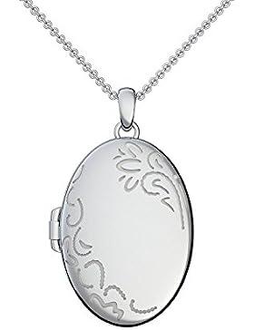 Medaillon oval groß Silber 925 Amulett antik vintage (Mealion, Medallion) zum Öffnen antik, aufklappen, aufklappbar...