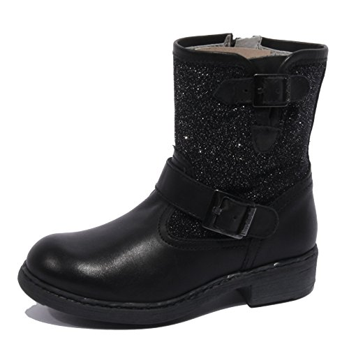 B1776 biker NERO GIARDINI stivaletti bimba boots shoes kids nero [28]