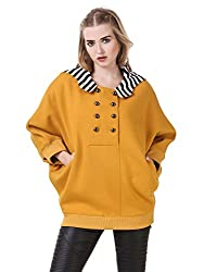 Texco Hooded Mustard Cape Sweat shirt