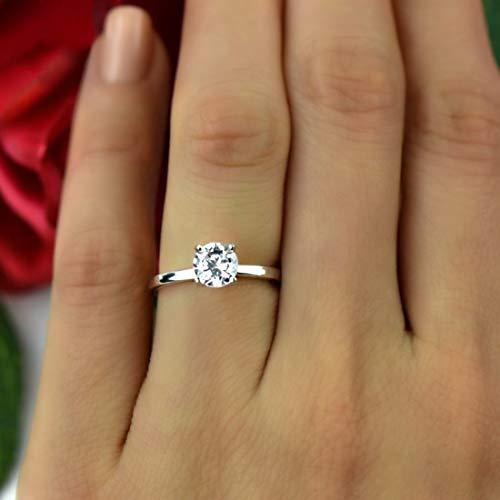 Natürlicher Diamant 0.11-1.29 ct Diamant Ring Zum Frau I2-Klarheit 9k Gold Diamant Schmuck Geschenke Zum Frau G-H Farbe 100% Echt Diamant (Gold 10k Ring Diamond Rose)