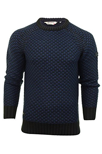 Dissident - Pull Jumper Homme Dissident 'Jago' Col bateau texture tricot Jago (Midnight Blue)