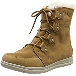 Sorel Explorer Joan, Botas para Mujer, Marrón (Camel Brown/Ancient Fossil 224), 39 EU