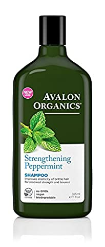 Avalon Organics Peppermint Revitalizing Shampoo 325ml Pack of 3