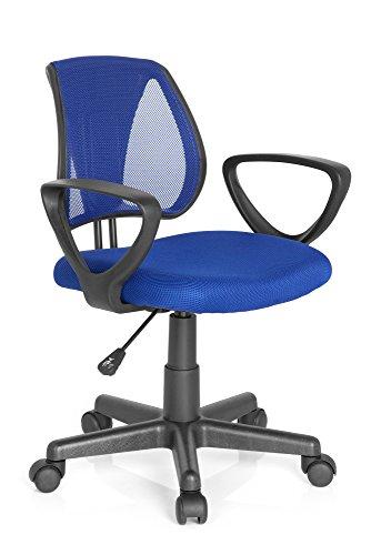 hjh OFFICE 725101 KIDDY CD Kinder Drehstuhl, Stoff, blau
