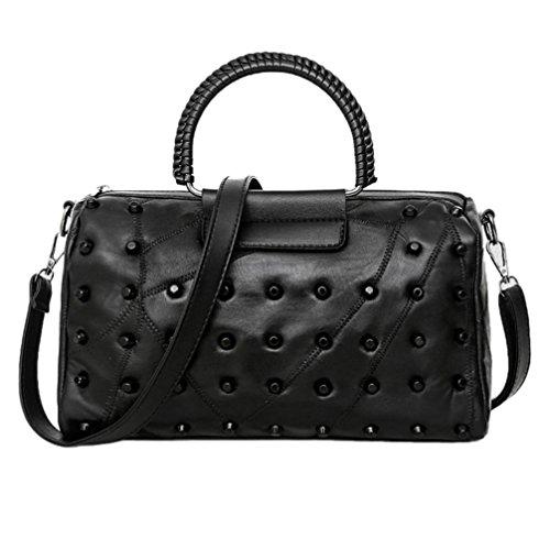 Handtasche Umhängetaschen,YULAND Frau-beiläufige Beutel-Frauen-Leder-Handtaschen-Schulter-Beutel-Umhängetasche-lässig taschen frauen leder handtasche umhängetasche crossbody (B) (Millennium-leder-handtasche)