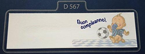 50 pezzi, bigliettini x bomboniera, buon compleanno calcio (milan, inter, juve), segnaposto, confettata (inter)