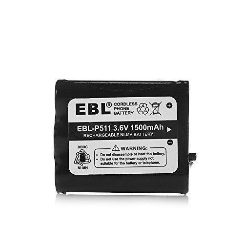 EBL 3.6V 1500mAh Cordless Phone Rechargeable Battery for Replacement for Panasonic KX-FPG371 KX-FPG372 KX-TG2267 KX-TGA273 KX-TG110M KX-TG2205 KX-TG2215 KX-TG2219  available at amazon for Rs.1289