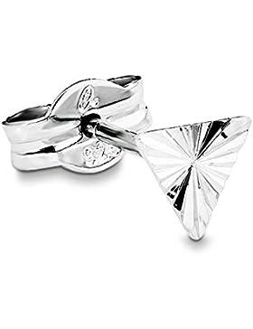 amor Damen-Ohrstecker Einzelohrschmuck Dreieck 925 Silber rhodiniert  - 87070
