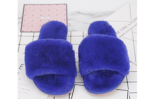 Beauqueen Plush Flip Flop Famille Femmes Hommes Chaud Beaucoup De Différents Types De Taille De Couleur Flip Flop Pantoufles Brown
