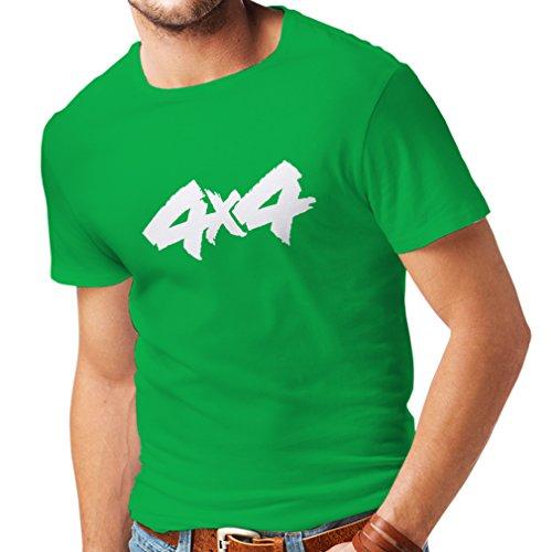 Maglietta da uomo 4x4 - accessori fuoristrada, jeep, mercanzia per buggy, la gioia di tutte le ruote (medium verde bianco)